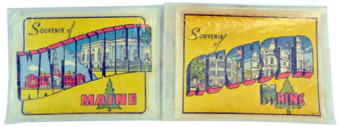 Vintage Maine Travel Decals In Original Box - 3