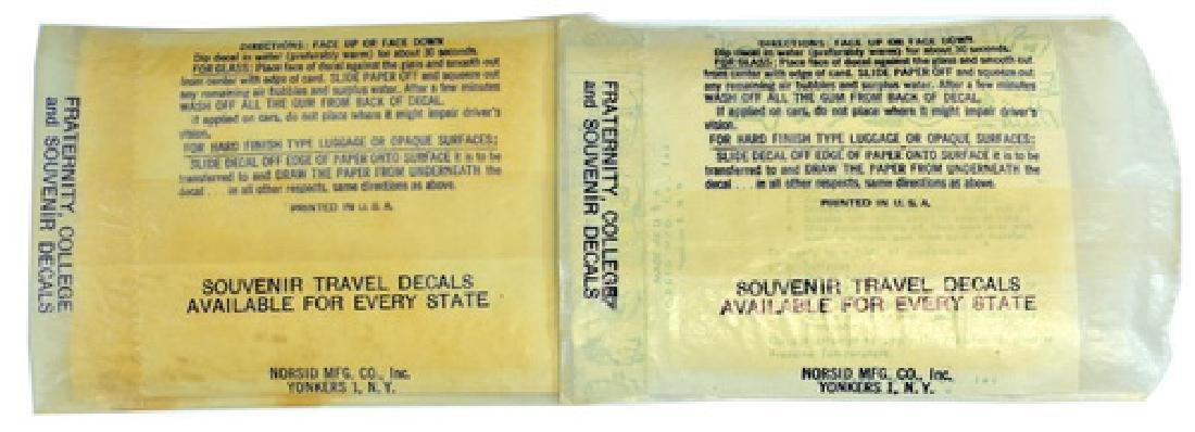 Vintage Maine Travel Decals In Original Box - 4
