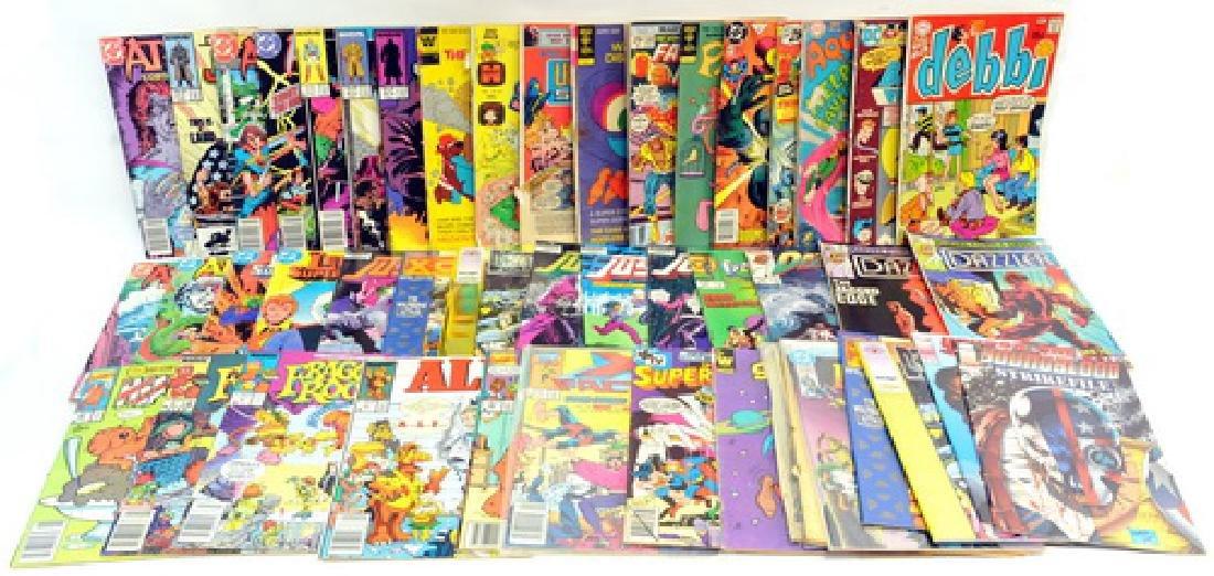 50 Misc. Comic books, Debbi, Batman, Aquaman,
