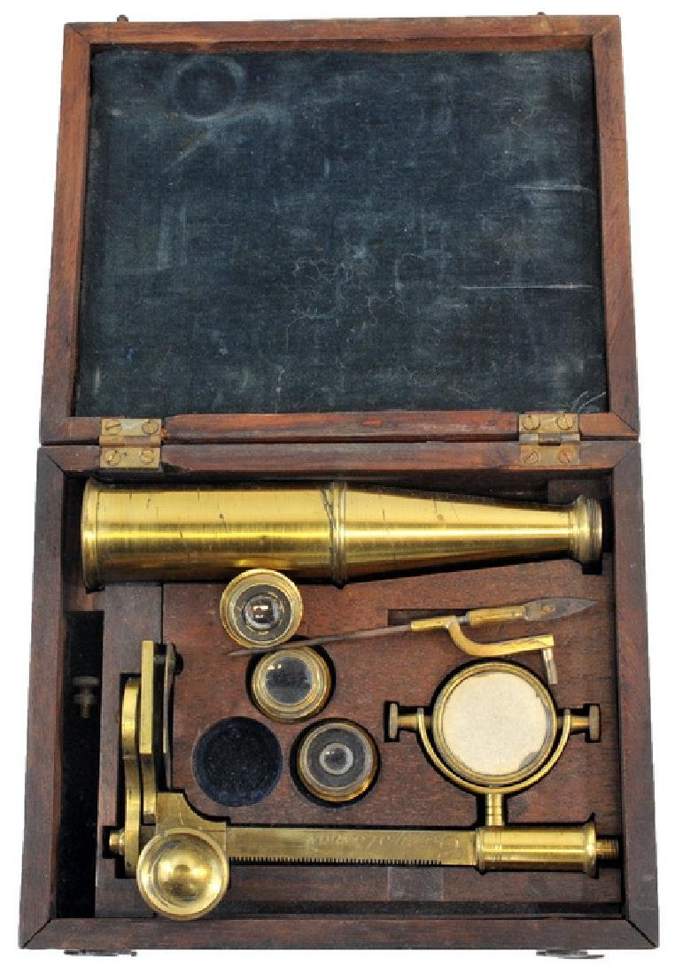 Antique Brass Microscope By Gary London