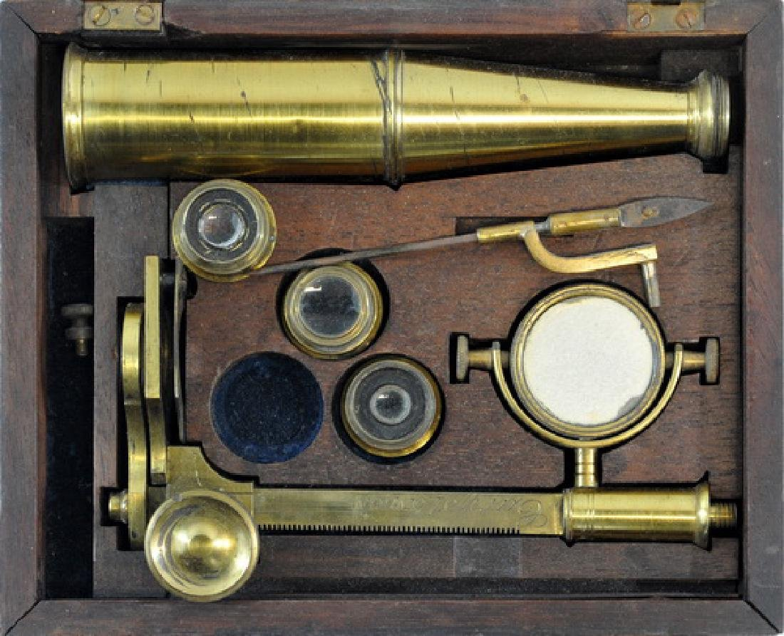 Antique Brass Microscope By Gary London - 2