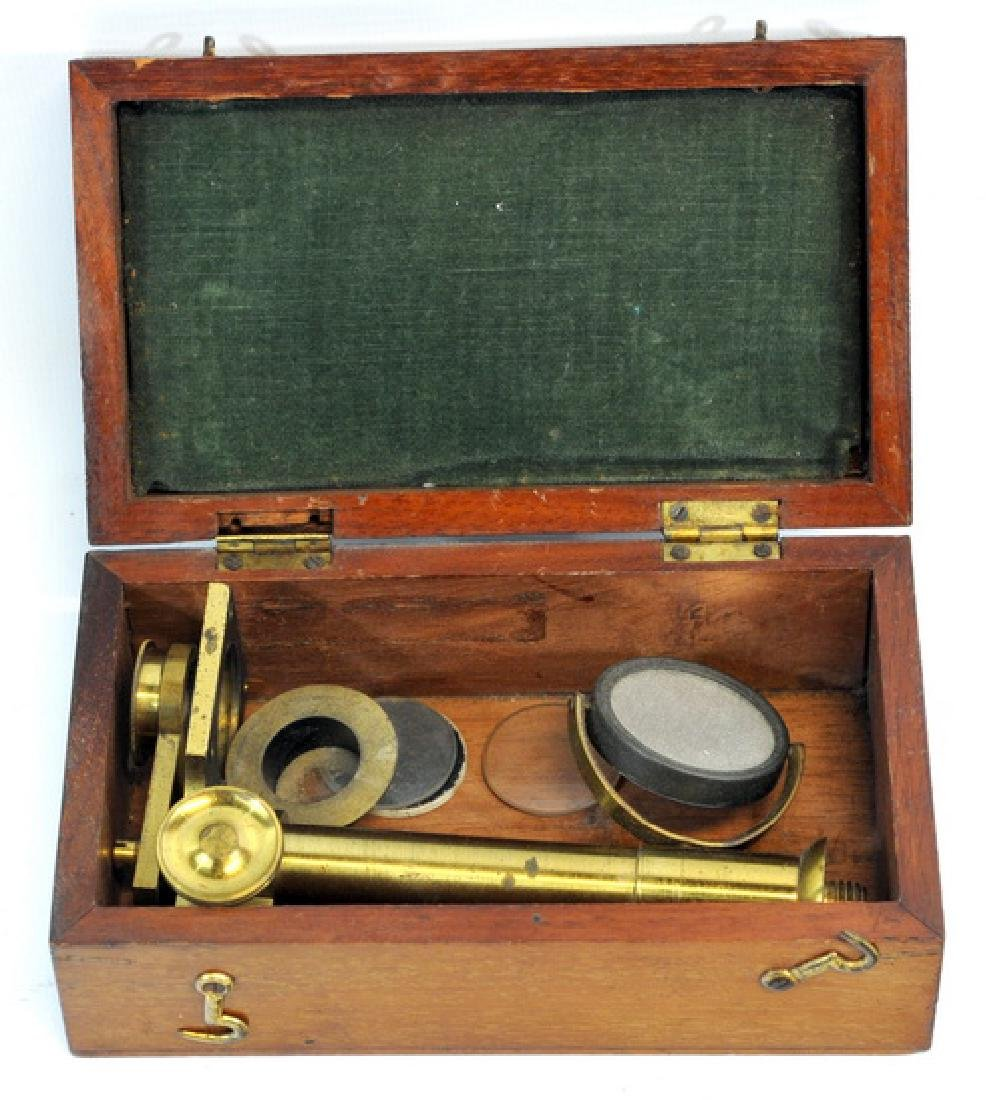 Antique Brass Microscope By R. Field & Son