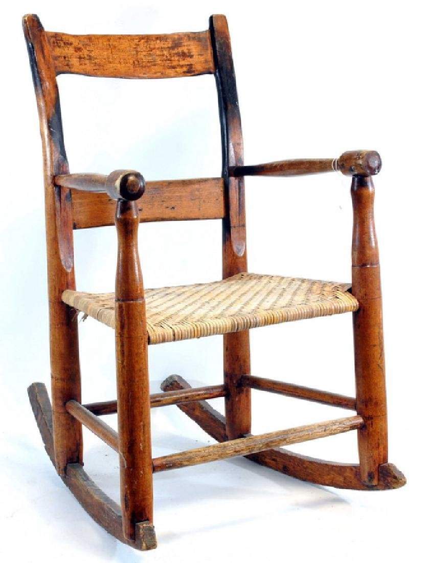 Child Rocking Chair, Vintage Doll Carriage