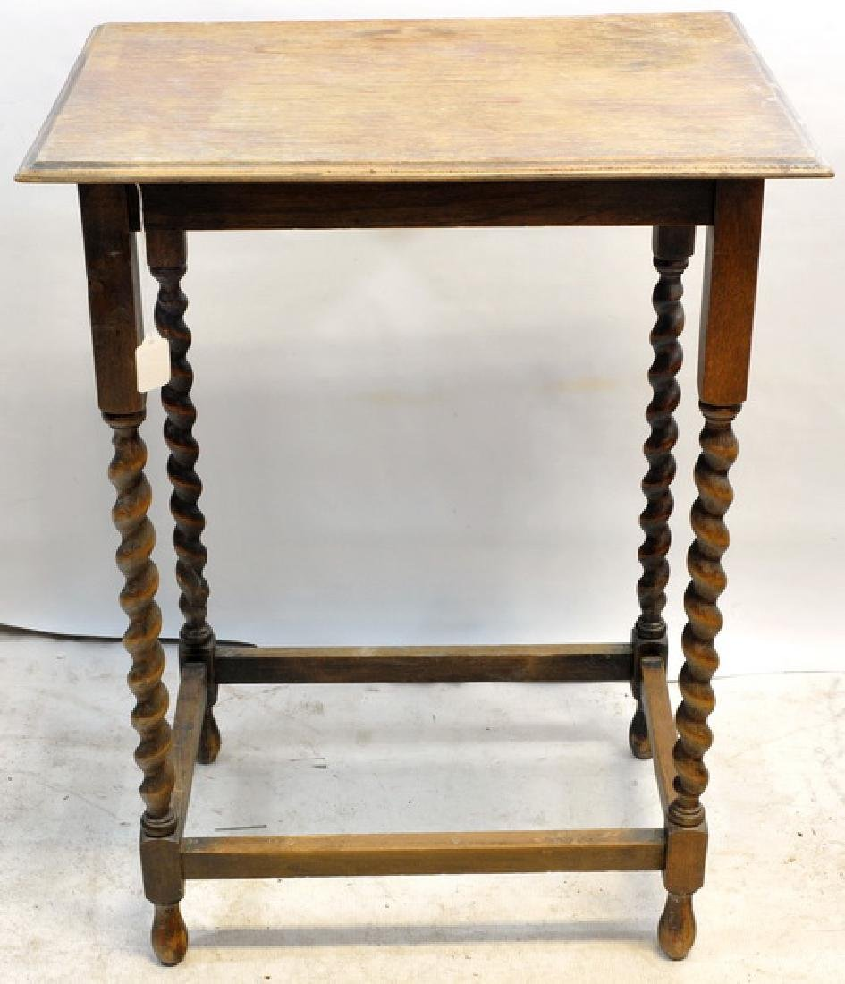 2 Antique Side Tables With Spiral Legs