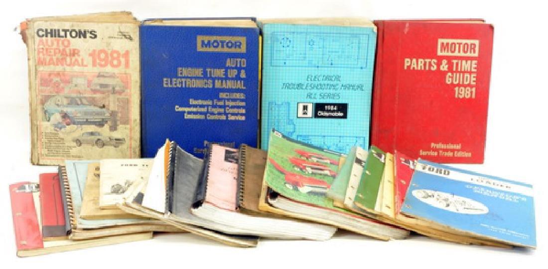 2 Boxes Of Auto Repair Manual Books