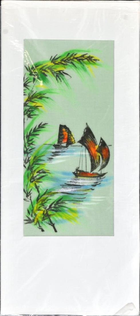 Hand Painted Vietnam Silk Cards