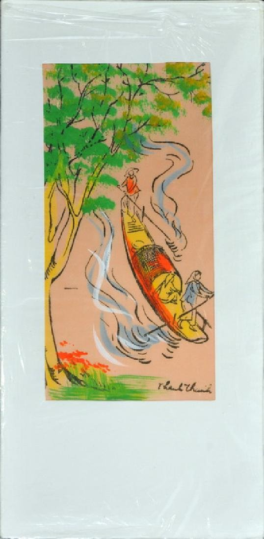 Hand Painted Vietnam Silk Cards - 3