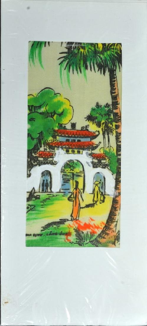 Hand Painted Vietnam Silk Cards - 4