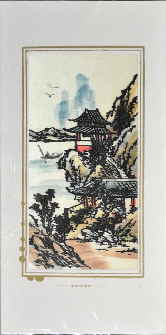 Hand Painted Vietnam Silk Cards - 5