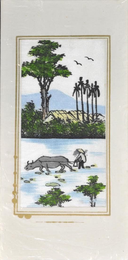 Hand Painted Vietnam Silk Cards - 6