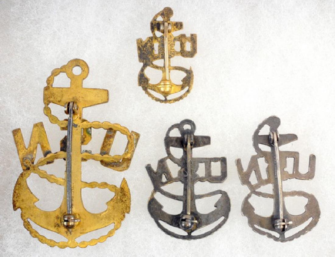 Four Pieces of WWII Navy Chiefs Insignia