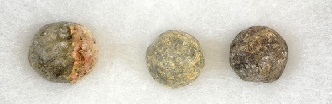 Three Dug Mini Balls From Fort William Henry