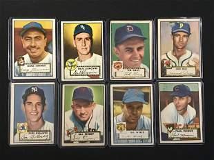 8 1952 Topps Baseball Cards