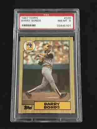 1987 Topps Barry Bonds Psa 8