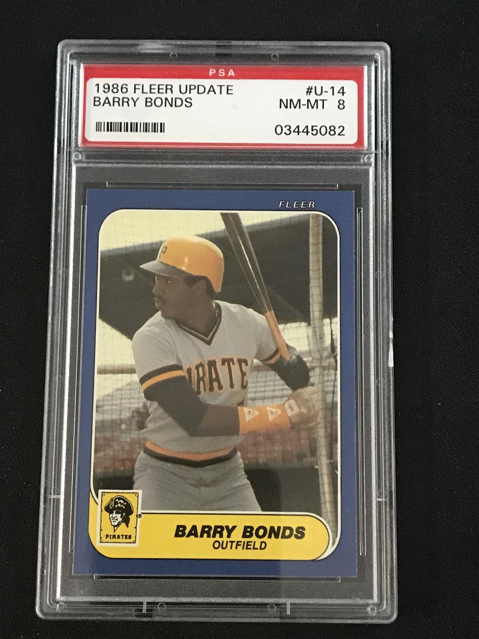1986 Fleer Update Barry Bonds Rc Psa 8