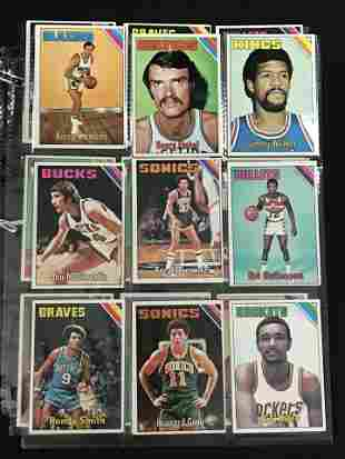 27 Crease Free 1975-76 Topps Basketball Cards