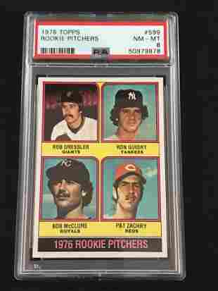 1976 Topps Ron Guidry Rookie Card Psa 8