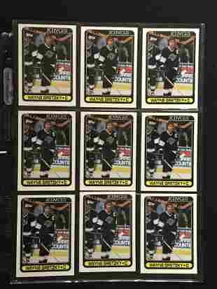9 1990 Topps Wayne Gretzky Cards Mint