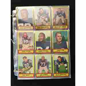 Near Set 1963 Topps Football 165 Of 170 Cards