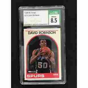 1989-90 Hoops David Robinson Rookie Cgs 8.5