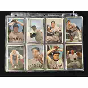 22 1953 Bowman Color Baseball Cards