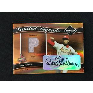 2004 Leaf Limited Bob Gibson Auto Jersey Card