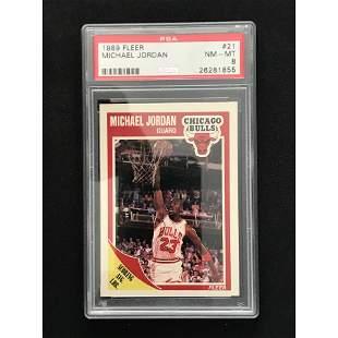 1989 Fleer Michael Jordan Psa 8
