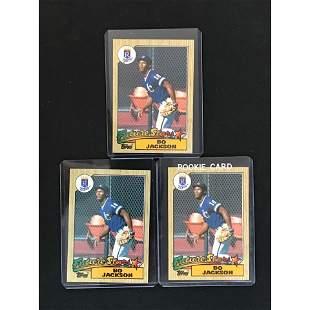 Three 1987 Topps Bo Jackson Rookie Cards
