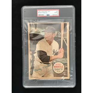 1967 Topps Pin Up Mickey Mantle Psa 2