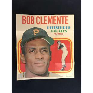 1970 Topps Poster Roberto Clemente
