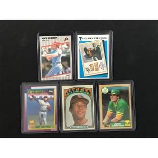 5 Vintage Baseball Stars/hall Of Famers/rc