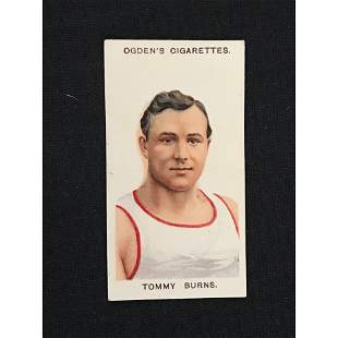 Circa 1910 Tommy Burns Boxing Card