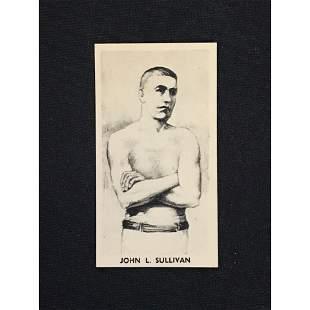 Vintage John L. Sullivan Boxing Card