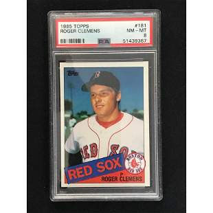 1985 Topps Roger Clemens Rookie Psa 8