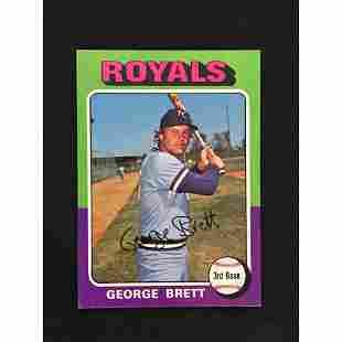 1975 Topps George Brett Rookie Card