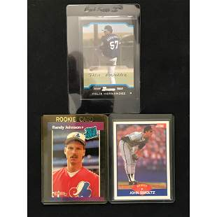Three Baseball Rc Smoltz/johnson/felix Hernandez