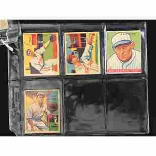 7 Pre War Goudey/diamond Stars Baseball Cards