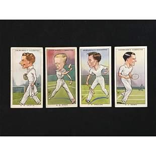 4 Churchman Cigarettes Tennis Cards