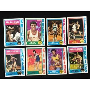 1974-75 Topps Basketball Partial Set 135 Cards
