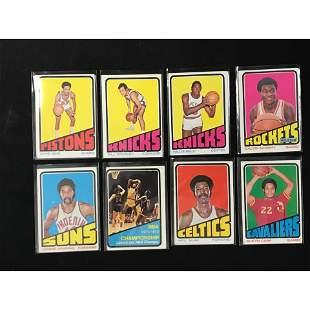 1972-73 Topps Basketball Partial Set 106 Cards
