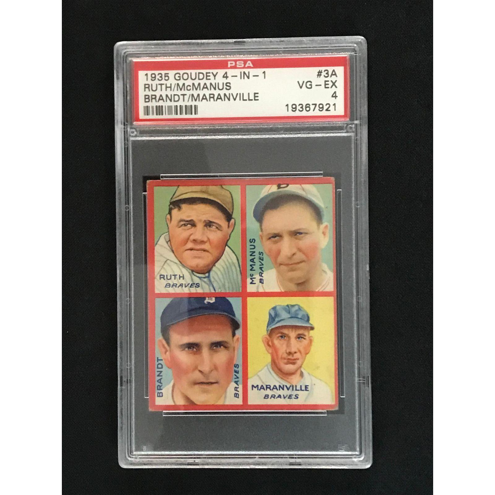 1935 Goudey 4 In 1 Babe Ruth Psa 4