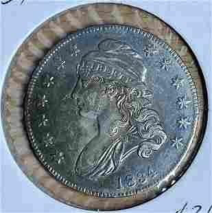 1834 Capped Bust Half Dollar Letter Edge