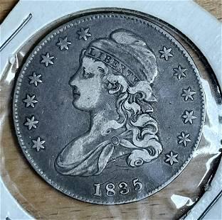 1835 Capped Bust Half Dollar Letter Edge