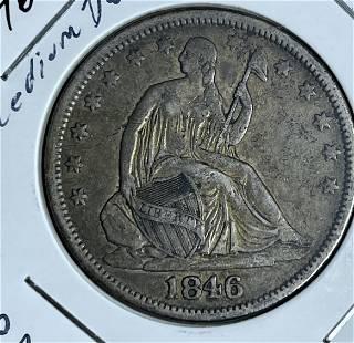 1846-o Seated Liberty Half Dollar No Motto