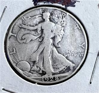 4 Walking Liberty Half Dollars
