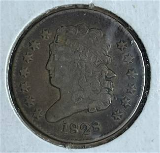 1828 1/2 Cent 13 Stars