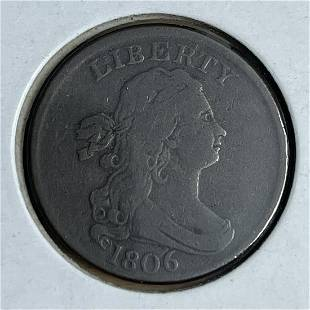 1806 1/2 Cent Large 6 With Stems