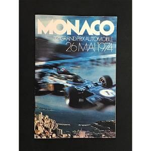 1974 Monaco Grand Prix Program And Ticket