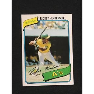 1980 Topps Rickey Henderson Rookie Exmt++