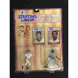 1989 Starting Lineup Yaz/hank Aaron With Cards